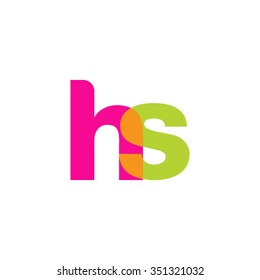 lowercase hs logo, pink green overlap transparent logo, modern lifestyle logo