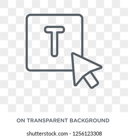Lowercase icon. Lowercase design concept from Webnavigation collection. Simple element vector illustration on transparent background.