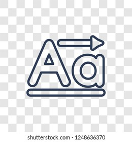 Lowercase icon. Trendy linear Lowercase logo concept on transparent background from User Interface and Web Navigation collection