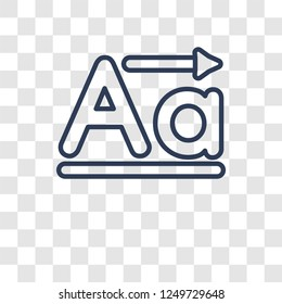 Lowercase icon. Trendy Lowercase logo concept on transparent background from User Interface and Web Navigation collection