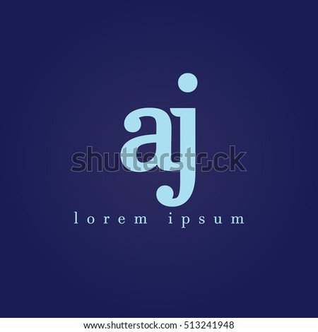 Lowercase J Vector Logo Aj Initial Stock Vector Royalty Free