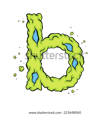 Lowercase Letter B Bright Green Element Stock Vector Royalty Free