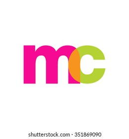 lowercase mc logo, pink green overlap transparent logo, modern lifestyle logo