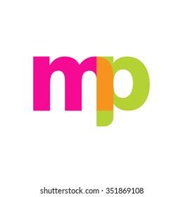 lowercase mp logo, pink green overlap transparent logo, modern lifestyle logo