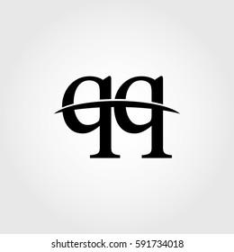 Lowercase qq black logo