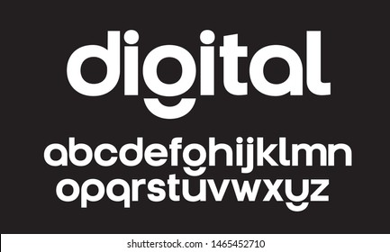 Lowercase vector geometric font. Modern startup typeface for identity design - Shutterstock ID 1465452710