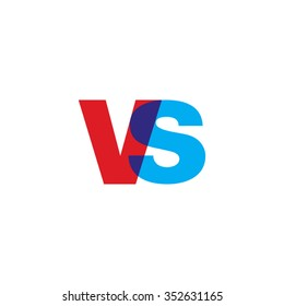 lowercase vs logo, red blue overlap transparent logo
