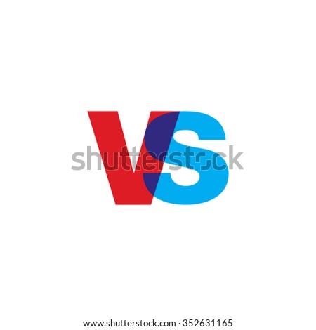 613208b5 Lowercase Vs Logo Red Blue Overlap arkivert vektor (royalty-fritt ...