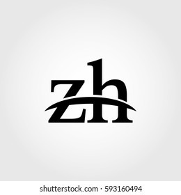 Lowercase zh black logo