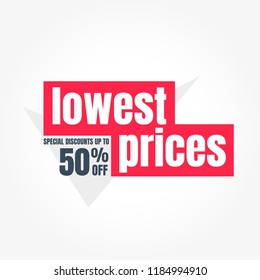 Lowest Prices 50% Off Label