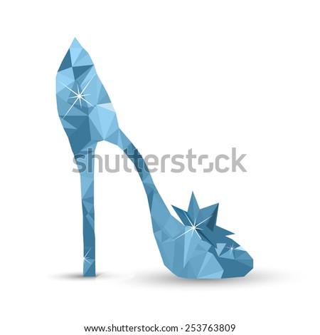 Lowpoly Cinderellas crystal shoe