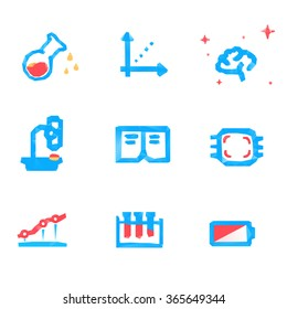 Lowpoly tech and science icons
