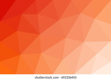 Low-poly vector abstract background with red and orange gradients