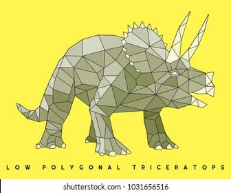 lowpolygonal dinosaur vector file