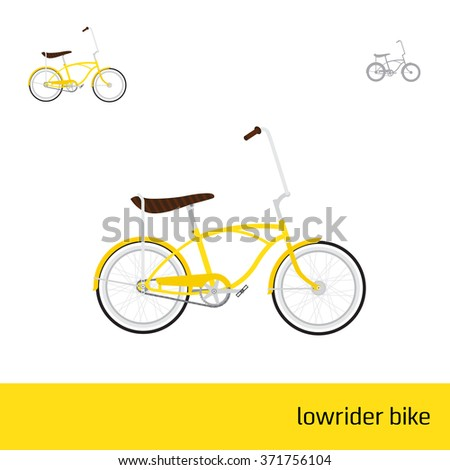 Lowrider Bike Three Types Icons Stock Vector (Royalty Free ...