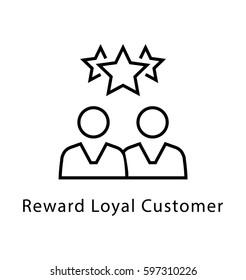 Loyal Customer Vector line Icon