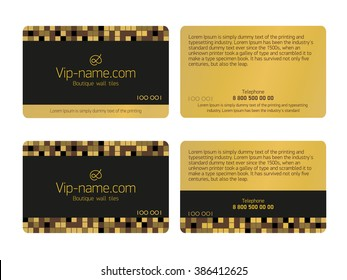 Loyalty card design template. Beautiful gift card isolated. vector business card Golden for shopping.