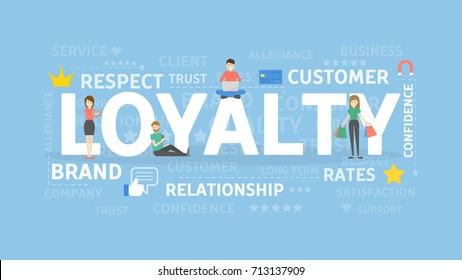 Loyalty concept illustration. Idea of customers, feedback and ratings.