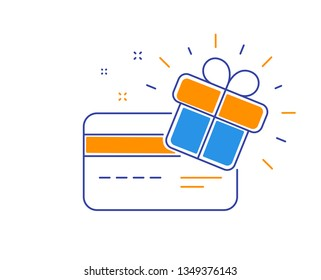 Loyalty gift card, collect bonus and earn reward. Redeem gift, win present card. Benefit collecting. Loyalty points program. Winner coupon. Present box. Bonus vector