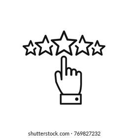 Loyalty icon vector