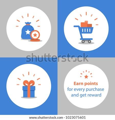 loyalty program earn points purchase reward のベクター画像素材