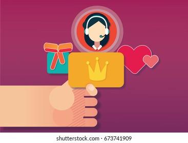 Loyalty program. Vector illustration