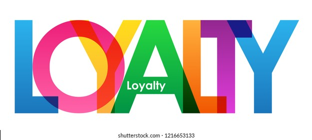 LOYALTY rainbow letters banner