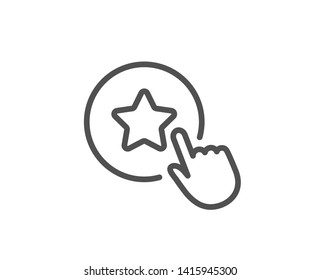Loyalty star line icon. Bonus points. Discount program symbol. Quality design element. Linear style loyalty star icon. Editable stroke. Vector