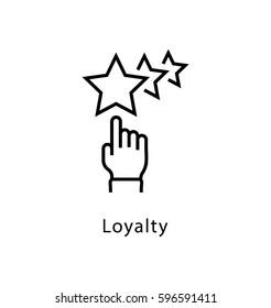 Loyalty Vector Line Icon