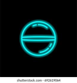 Lozenge blue glowing neon ui ux icon. Glowing sign logo vector