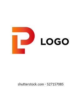 LP company logo vector template. Vector logo design with the LP initial letters.