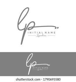 LP Initial letter handwriting and signature logo.
