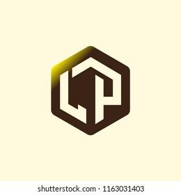 LP Initial letter hexagonal logo vector
