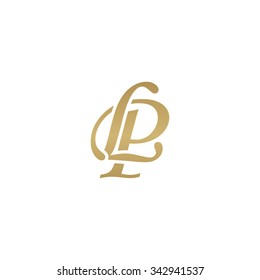 LP initial monogram logo