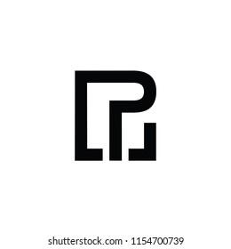 lp letter vector logo. pw letter vector logo