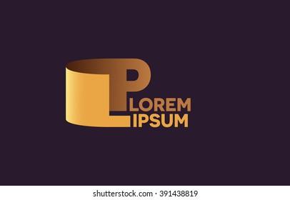 LP letters logo, L and P letters logo alphabet design.