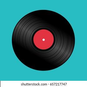 LP record vector vintage background icon