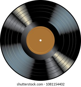 LP vinyl record with blank brown label