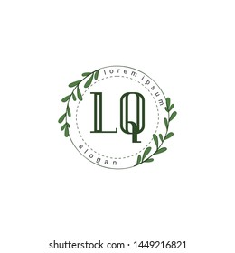 LQ Initial beauty floral logo template