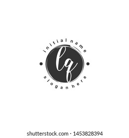 LQ Initial beauty monogram logo vector
