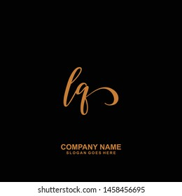 LQ Initial handwriting logo vector