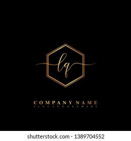 LQ Initial luxury handwriting logo vector