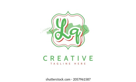Lq Initials, handwriting logo vector