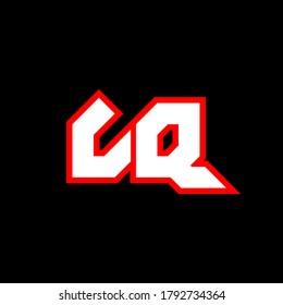 LQ logo design, initial LQ letter design with sci-fi style. LQ logo for game, esport, Technology, Digital, Community or Business. L Q sport modern Italic alphabet font. Typography urban style fonts.