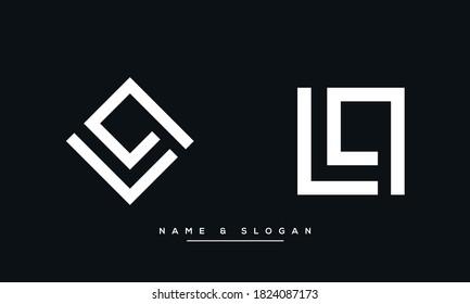LQ, QL Abstract Logo Monogram Template vector