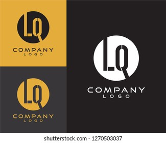 lq/ql initial logo design letter with circle shape