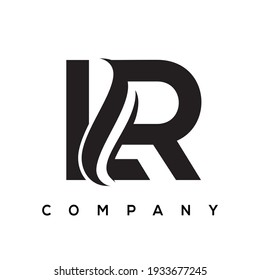 LR creative letter logo design