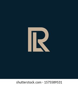 LR letter designs for logo and icons