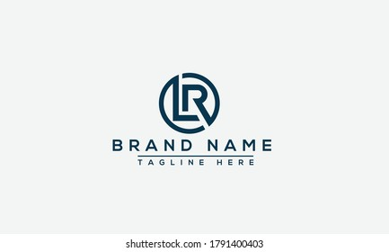 LR Logo Design Template Vector Graphic Branding Element.
