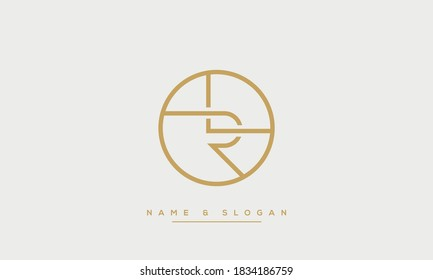 LR, RL Abstract Letters logo Monogram